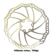 """PROMAX """"ULTRA"""" 180mm 106 GRAMMES DISC BRAKE ROTOR, STAINLESS STEEL, COMPLETE WITH BOLTS, 6 BOLT MOUNTING"""