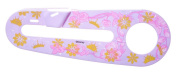 KIDS BIKE CHAIN GUARD FOR 30cm WHEEL BIKES - PINK AND GOLDEN FLOWERS new