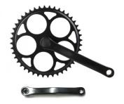 46T Single Speed Crank / Fixie Crankset Black 0.3cm or 0.2cm RUMPUS