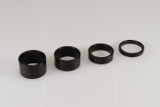 "4PCS New Quality Alloy Black Headset Spacers 1 1/8"" - 5mm, 10mm, 15mm, 20mm"