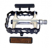 P Components MTB Pedal with Black Cage- Silver
