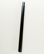 X-LONG 400mm x 25.4mm BLACK STEEL SEATPOST, 1.6mm THICK HI-TENSILE STEEL, BMX, MTB, ETC
