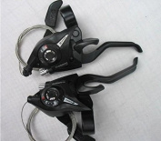 SHIMANO ST-EF51 Brake & Shifter Levers Combo Set 3x8 Pair With Shift Cable And End Caps