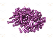 75 Alloy Anodized Spoke Nipples in a Choice of 10 Colours. 7075 Alloy, 14Gx12mm