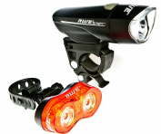 AWE® AWEBrightTM 1 x Super Bright Front LED & 0.5W x 2 Rear LED's Bicycle Light Set 140 Lumens