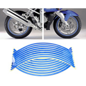 HuntGold 2X Fashion Wheel Tyre Reflective Sticker 16 Strips Bicycle Motorcycle Car Decal