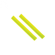 High Visibility Reflective Slap Wrist Bands Set of 2 (22cm) Children/Kids - Available in Yellow