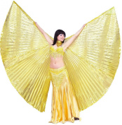 Dance Fairy Egypt Opening Golden Isis Wings dance Props/costume,Not contain rods/sticks.