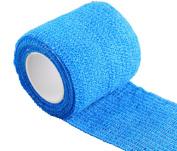Yosoo Blue Self Cohesive Bandage Elastic Adhesive Bandage 5cm x 4.6m Pack of 5 Rolls