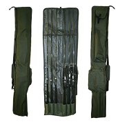 Carp Fishing Tackle Rod Holdall Bag For 3 Made Up & 3 Unmade Rods & Reels