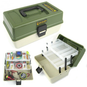 Ace Angling Fishing Tackle Box 2 Tray Cantilever 'Tough Box' Sea Coarse Game Fishing