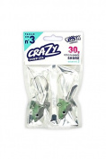 Fiiish Crazy Sand Eel 220 2 Pearl Green Jig Heads - Shore 30g