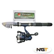 Namazu Mini Travel Telescopic Fishing Rod & Reel Combo