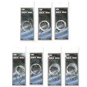 7 Sea Fishing Rigs Flapper Pulley Rig Double & Single Hook Clipped .