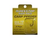 DRENNAN CARP FEEDER QUICKSTOP HAIR RIGS SIZE 10 - HNQCFD010