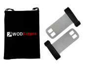 WODFitters Textured Leather Hand Grips for Cross Training WODs, Pull Ups, Chin Ups, Kettlebell Training, Power Lifting and Gymnastics * Satisfaction Guaranteed! * Protect Your Palm from Tearing and Calluses * More Effective than Exercise Gloves * One p ..