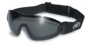 Tinted Skydiving/Freefall and Parachuting Shatterproof UV400 Goggles and Free Microfibre Storage Pouch