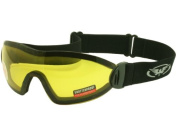 Skydiving / Freefall and Parachuting Yellow Tinted Shatterproof UV400 Goggles and Free Microfibre Storage Pouch