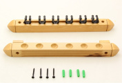 LIGHT OAK 6 Way CLIP Snooker Pool Cue Wall Mounted Rack - Holds Up To 6 Cues