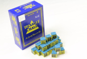 24 Pieces BLUE Triangle Snooker or Pool Chalk - Worlds Most Popular Chalk!