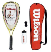 Wilson Ripper Junior Squash Racket Set with Bag, Waterbottle & Balls RRP £75
