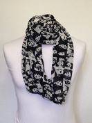 Elvis Black & White Infinity Scarf Jersey OR Chiffon Unisex Printed Loop Fashion Scarves