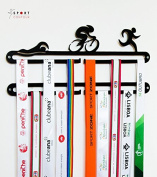 Triathlon medal display double hanger Black
