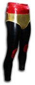 Luchadora Mexican Lucha Libre adult wrestling pants black metallic red gold