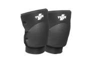 Trace Knee Pads in Black for Professional Wrestling Gear Attire or Training Wear