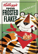 Kelloggs Frosted Flakes mini-sign / metal postcard na