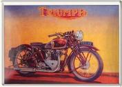 Triumph Speed Twin metal postcard / mini-sign