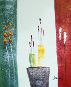 Large Fine Art oil on canvas painting. Vase with Flowers. Superb quality and craftsmanship, hand made wall art.