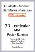 Shinsuke Removable Frame for Maxi-Poster 3-3d 30 x 42 cm Heavy MDF material. External Dimensions