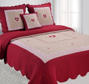 Quilted Bedspread MAUD 2 Seater With Two Cushion Covers Red