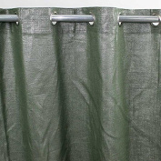 Comet Curtain Linen and Cotton 140 x 250 cm Khaki with Lurex Monbeaurideau USA-Style USA: