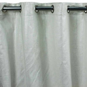 Comet Cotton and Linen Curtain 140 x 250 cm White Monbeaurideau USA Style USA: