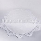 Set of 4 table Runner White with Embroidered Margaux 40 x 90 cm