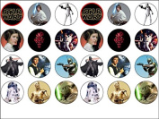 24 Star Wars Edible Cupcake Toppers