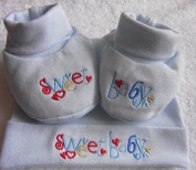Soft Touch New Born Babies Hat and Bootie Set