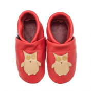 Pantau.eu Children Lederpuschen Crawling Shoes Leather Walking Shoes / Slippers with Owl Design