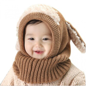 Koly Baby Kids Girls Boys Winter Warm Woollen Coif Hooded Scarf Caps Hats