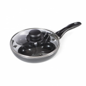Multicook Induction 4 Cup Egg Poacher Non-Stick Pan Set With Glass Lid - 20cm
