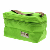 VANKER 1Pc Green Practical Mini Small Portable Insulated Picnic Bag Lunch Container Box