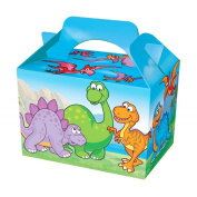 Dinosaur Design Carry Food Meal Birthday Party Box Loot Bag Boxes Childrens / Kids 10 x