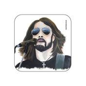 """Dave Grohl"" Original Music Themed Artwork Portrait by Kev Guyler - Coaster design by Coasteroo"