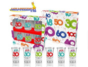 30th BIRTHDAY BALLOONS SERIES SHOT GLASSES - GIFT - PRESENT - PARTY