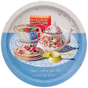 Martin Wiscombe Nice Cup of Tea Tin Tray, Assorted Colour