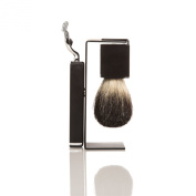 SMB Group Moderno Shave Set with Magnetic Stand That Holds Brush and Mach 3 Razor In Place