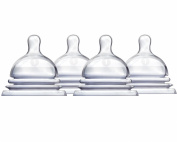Munchkin Latch Natural Movement Baby Bottle Nipples, 4 Count, Stage 1