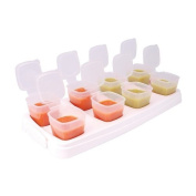 2 x 8 weaning pots 2nd Stage 70ml Stage Baby Weaning Freezer Pots, Freezer cubes FREE BPA